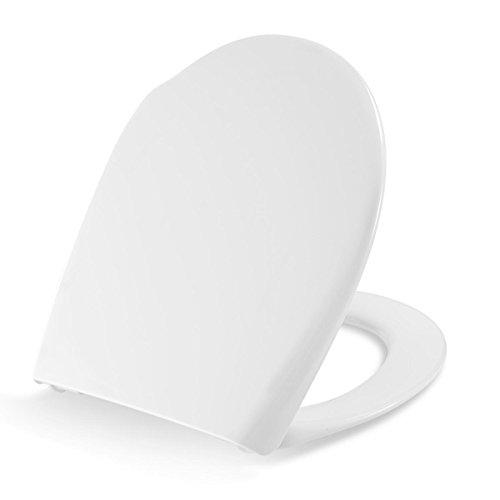 Pressalit Concordia WC-Sitz weiß, BL6-Edelstahlscharnier für Befestigung von oben, Absenkautomatik und Lift-off, 544000BL6999 (Weiß)