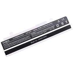 vhbw Batterie Li-ION 2200mAh (10.8V) Blanc pour Ordinateur Portable, Notebook ASUS Eee PC EPC 1016P Remplace: A32-1015, A31-1015, AL31-1015, PL32-1015