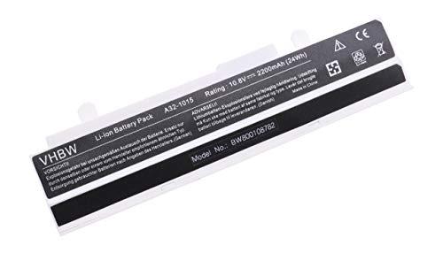 vhbw Li-Ion Akku 2200mAh (10.8V) weiß für Notebook Laptop Asus Eee PC EPC 1016P wie A32-1015, A31-1015, AL31-1015, PL32-1015.