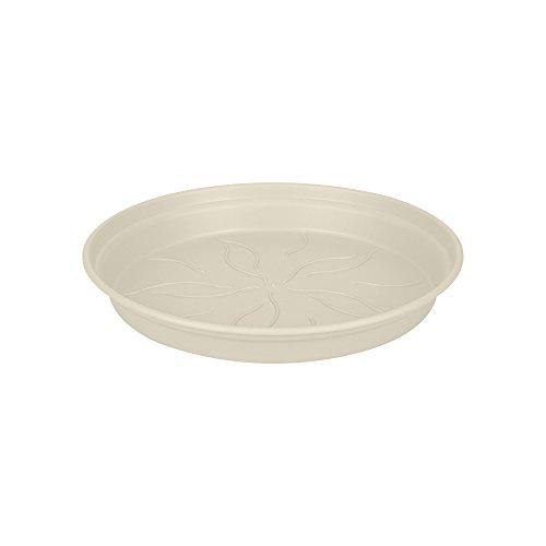 Elho Green Basics Untersetzer 10 - Baumwoll Weiss - Drinnen & Draußen  - Ø 10.1 x H 1.5 cm