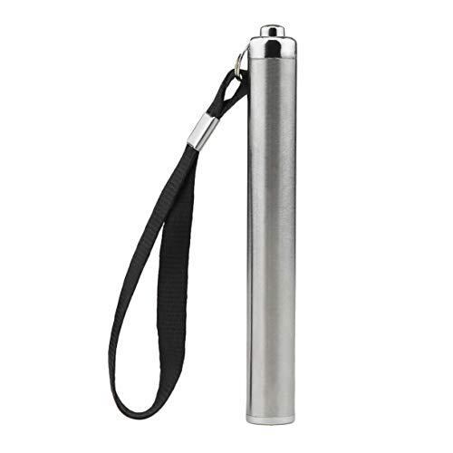 Torcia elettrica, mini torcia elettrica in acciaio inox impermeabile torcia a batteria torcia portatile lanterna luminosa a luce piccola di piccole dimensioni pratica