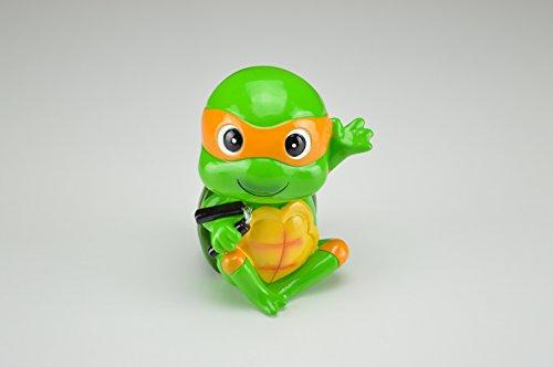 Teenage Mutant Ninja Turtles Michelangelo Spardose orange Maske Kinder (Turtle Nunchucks Ninja)