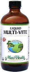Maxi Health Multi-Vite Multi Vitamin Liquid Fruit Flavor 16 OZ by Maxi-Health
