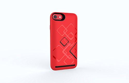 Kidshobby Akku Hülle für iPhone 6 Plus/6S Plus/7 Plus/8 Plus Ultra Dünne Zusatzakku Lithium Polymer Externe Battery Backup Case (6000mAh, 5.5 Zoll rot) (5.5 Zoll) (Iphone 4 Akku-case Rot)
