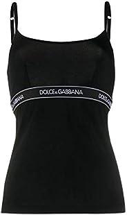 Luxury Fashion   Dolce E Gabbana Women O7B04TFUGJTN0000 Black Cotton Tank Top   Spring-summer 20