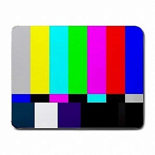 Gaming Mouse Mat, TV-Test-Bildschirm Fernsehen Farbleisten SMPTE PC Mouse Pad Matte Mousepad Neu!