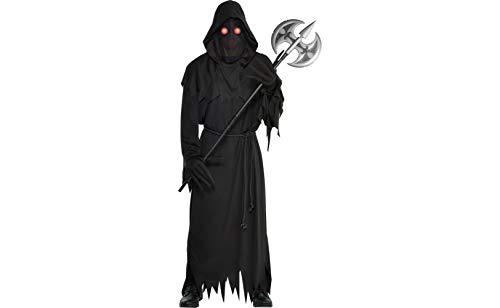 amscan Halloween-Kostüm mit leuchtendem Sensenmann für Erwachsene, Standard, mit Zubehör (Übernatürliche Kostüm)