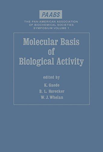 Molecular Basis of Biological Activity (PAABS symposium) (English Edition)