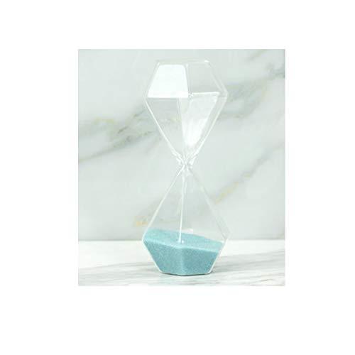 Jiansheng01-ou clessidra, design geometrico semplice, materiale in vetro confortevole, adatto per display da tavolo, dimensioni grandi e medie tra cui scegliere (blu, nero, grigio) accogliente