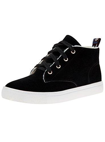 oodji Ultra Femme Chaussures Chaudes en Suédine Noir (2900N)