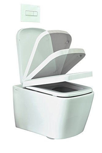 WC-Sitz f.cosima Wand-Tiefspül-WC o.Spülrand m.integr.Absenkautomat.VIGOUR