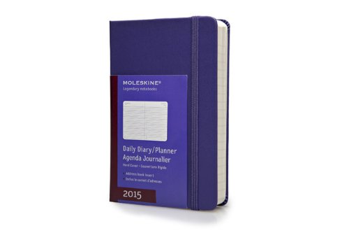 Moleskine 2015 Daily Diary/Planner, Pocket, Brilliant Violet
