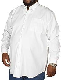 f3ab220a8011 Espionage Big Mens Oxford Long Sleeve Shirt White 2XL 3XL 4XL 5XL 6XL 7XL  8XL