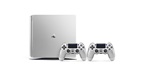 PlayStation 4 (PS4) - Consola De 500 GB, Color Plateado + 2 Mandos Inalámbricos DualShock 4
