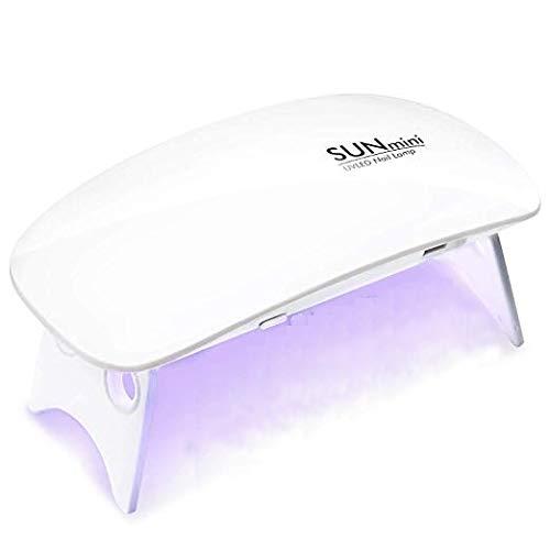 Lámpara LED UV Uñas 6W portátil Secador de Uñas para Unas de Gel manicura Shellac Gel...