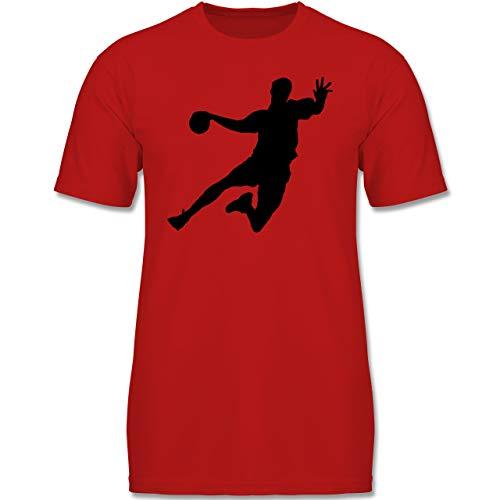 Sport Kind - Handballer - 164 (14-15 Jahre) - Rot - F130K - Jungen Kinder T-Shirt