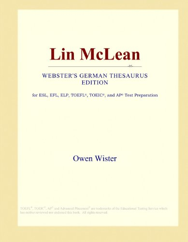Lin McLean (Webster's German Thesaurus Edition)