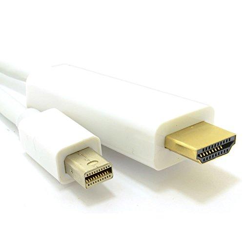 Mini DisplayPort Thunderbolt Zum HDMI Kabel Mac Zum TV Video+Audio 1,8 m (Hdmi Kabel Von Computer Zum Tv)