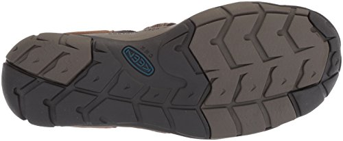 Keen Clearwater CNX, Sandali da Arrampicata Uomo Marrone (Dark Earth/blue Opal Dark Earth/blue Opal)