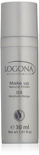 Logona Natural Natural Finish Liquid Foundation 03 Medium Beige 1 oz (japan import)