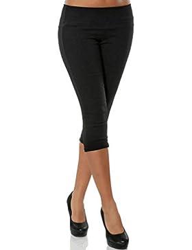 Hibote 3/4 Pantalones para Mujeres Pantalones Cortos Capri de Moda Color Sólido Casual Shorts Deporte Shorts Leggings...