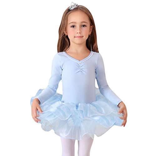 VENI MASEE Geschenk-Idee! Prinzessin Design Langen Ärmeln Zweiteilige Ballett-Ballettröckchen -Kleid, Größe 4-8, Preis/Stück - ()