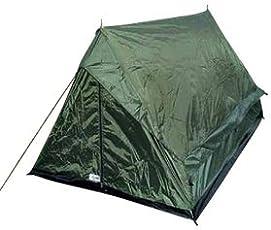 """Army Armee 2 Mann Zelt """"Ranger"""" mit Boden und Moskitoschutz Flecktarn oder Oliv"""