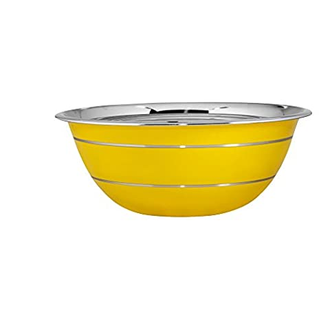 Kosma Stainless Steel Mixing Bowl   Salad Bowl Outside Yellow