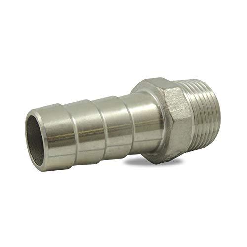 Ezfitt - Douille cannelée male en inox 316 - Ø 3/4 pouce x 19mm