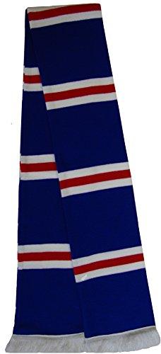 Bufanda Rangers a rayas en azul / rojo / blanco
