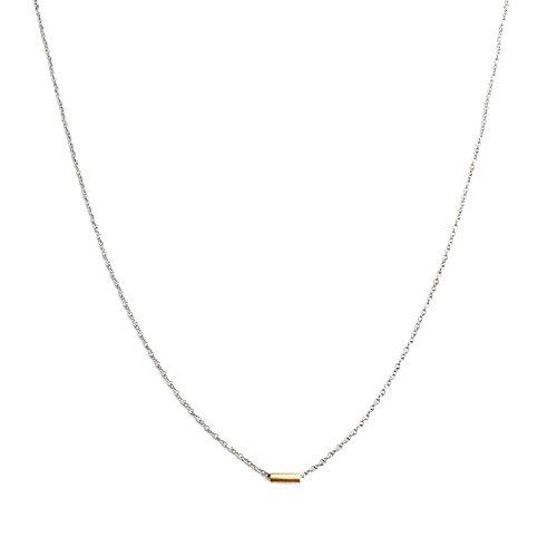 fatto-a-mano-oro-argento-mini-tubo-bar-collana-classic-minimalista-delicato-gioielli