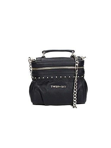 Twin-Set Cecile Smerlo donna, borsa a tracolla, nero, One size EU