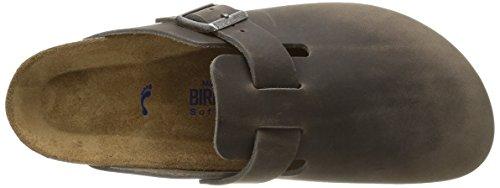 Birkenstock Boston, Sabots homme Gris (Oiled Iron)