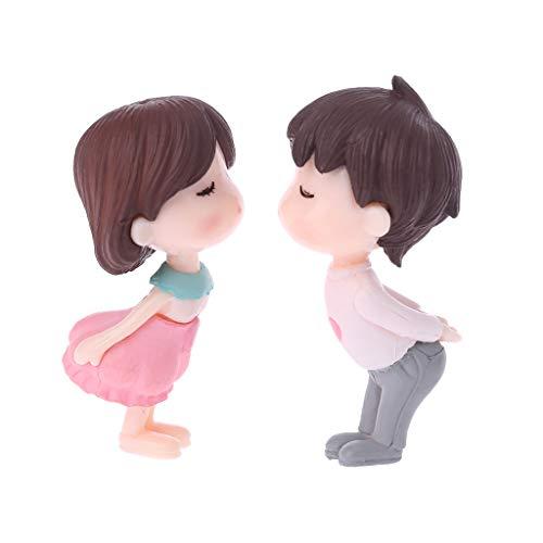Junlinto, Miniature Résine Amoureux Fée Jardin Paysage DIY Bonsai Dollhouse Décoration