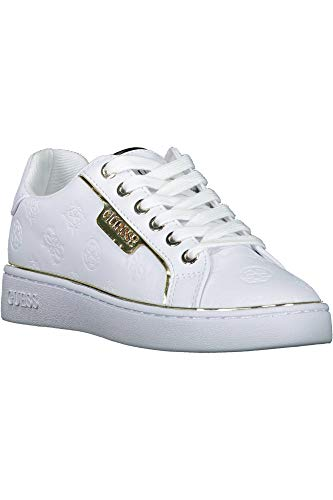 Guess BANQ/Active Lady/Leather Like, Sneaker Donna, Bianco White, 37 EU