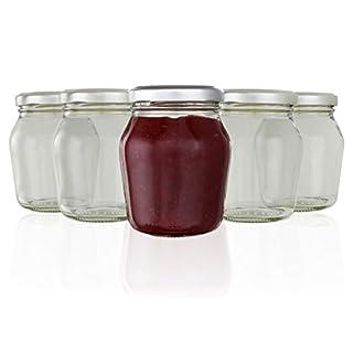 autooptimierer.de Einmachgläser Set 10 Stück Einweckglas mit Etiketten für Marmeladenglas 211 ml Rundgläser Gewürzgläser aus Glas klein Sturzglas Vorratsglas Weckgläser Einmachglas
