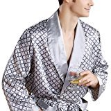 Zantec Hommes confortable 100% soie Satin Robe Peignoir de luxe Vêtements de nuit...