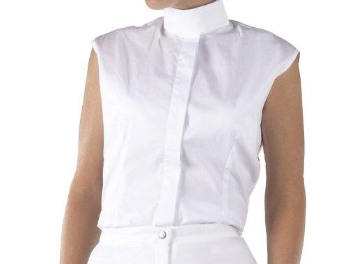 Caldene Nene Chemise de concours pour femme - White/White