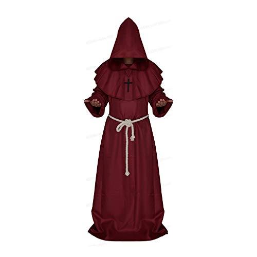 Männer und Frauen Geeignet Erwachsener Kleidung Robe Halloween Rollenspiel Kleidung Christ Kleid Pastor Uniform, 5
