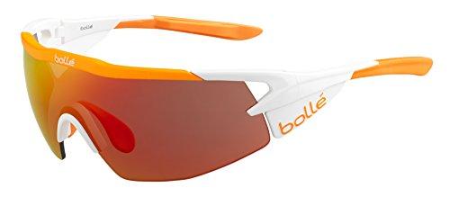 bollé Erwachsene Aeromax Sonnenbrille, Matte White, Medium