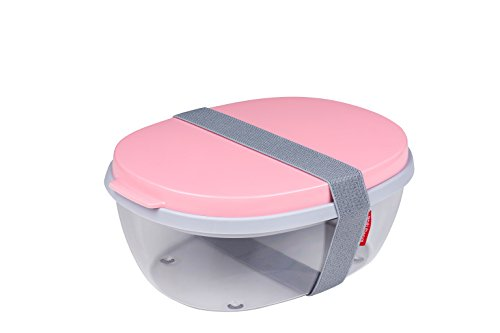 Rosti Mepal 107640576700 Boîte à Salade Ellipse Duo-Nordic Pink, Plastique, 22,5 x 17,5 x 9,5 cm