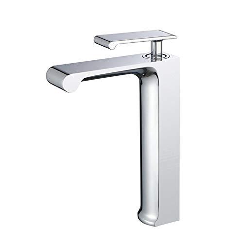 Wasserhahn TONGTONG SHOP Traditionelles Monoblock-Hochbecken-Mischbatterie-Küchen-Badezimmer, Mischer-Hahn-Chrom-Hahn-Einhebel-Hahn