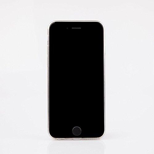 "licaso® iPhone 6 6S 4,7"" TPU Hülle Sketch Case transparent klare Schutzhülle Hülle iphone6 Tasche Cover (iPhone 6 6S 4,7"", Burger) Summer Flowers"