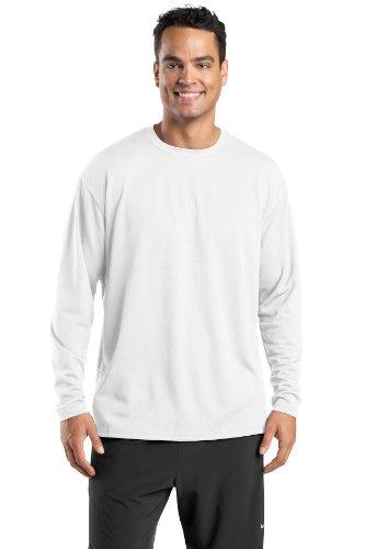 Sport-Tek-Dri Mesh Long Sleeve Shirt Weiß - weiß