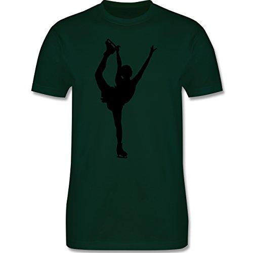 Wintersport - Eiskunstläuferin Einzellaufen - Herren Premium T-Shirt Dunkelgrün