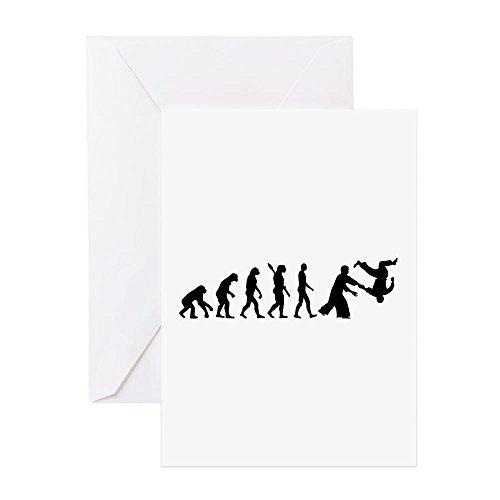 CafePress - Evolution Aikido - Grußkarte, Notizkarte, Geburtstagskarte, innen blanko, glänzend