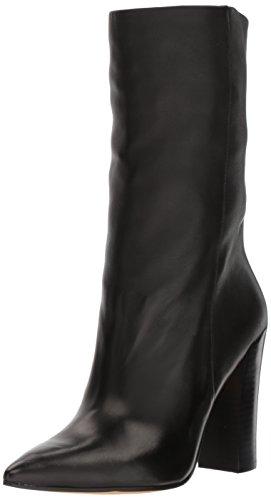 Dolce Vita Women's Ethan Fashion Boot, Black Leather, 9 Medium US (Dolce Leder Vita Schwarz)