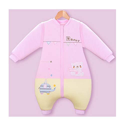 Wolaoma Baumwolle Baby Schlafsack Baby Winter dicken Schlafsack Anti-Kick-Schlafsack (Farbe : Pink, größe : XL)