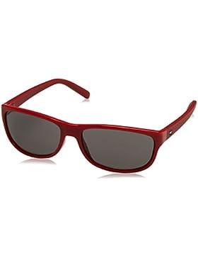 Tommy Hilfiger Unisex-Erwachsene TH 1222/S Y1 Sonnenbrille, Schwarz (Transp Red), 54