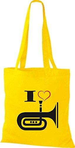 Shirtstown, Borsa tote donna Giallo (giallo)
